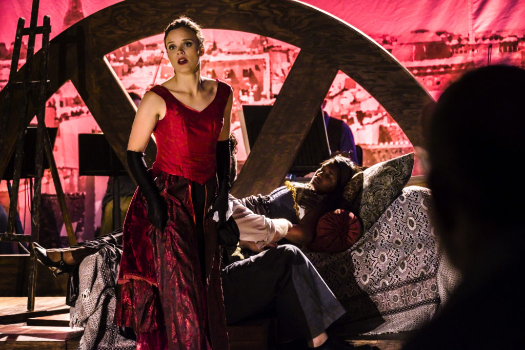 Opera singer Eldrid Gorset as Musetta in La Boheme, Skånska Operan. Photo: Håkan Röjder